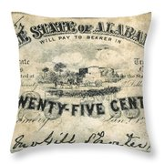 Confedrate Currency Throw Pillow