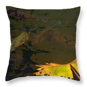 Conferring With The Yellow Throw Pillow