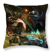 Conflict Never Ends Throw Pillow