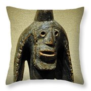 Confused Native Throw Pillow