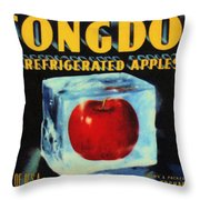 Congdon Refrigerated Apples Throw Pillow