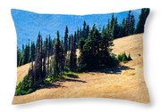 Conifer Clusters Throw Pillow