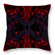 Conjoint - Crimson And Royal. Throw Pillow by Christopher Gaston