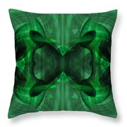 Conjoint - Emerald Throw Pillow