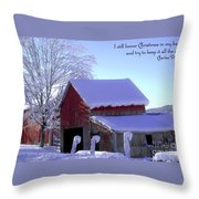 Connecticut Christmas Connecticut Usa Throw Pillow by Sabine Jacobs