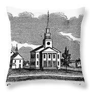 Connecticut: Church, 1836 Throw Pillow