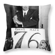 Connie Mack (1862-1956) Throw Pillow