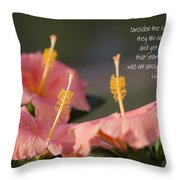Consider The Lilies How They Grow Throw Pillow