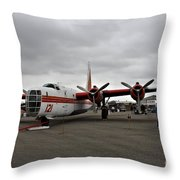 Consolidated Pb4y-2 Privateer Throw Pillow