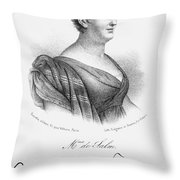 Constance De Salm Throw Pillow