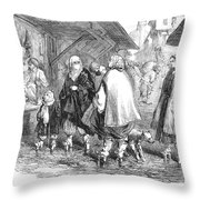 Constantinople, 1854 Throw Pillow