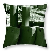 Construction Site Curves Throw Pillow