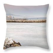 Banus Port Throw Pillow