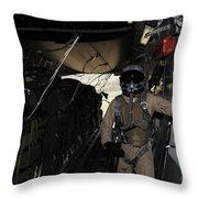 Container Delivery System Bundles Exit Throw Pillow by Stocktrek Images