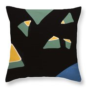 Containers In Space Throw Pillow