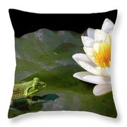 Contemplating A Lily Throw Pillow