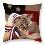 Contemplative Patriot Throw Pillow
