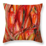 Contemporary Painting Three Throw Pillow