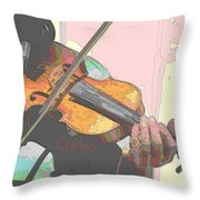Contorno Fiddle Throw Pillow