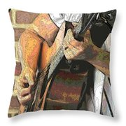 Contorno Guitarist 2 Throw Pillow