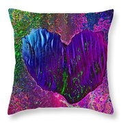 Contours Of The Heart Throw Pillow