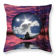 Contrasting Skies Throw Pillow