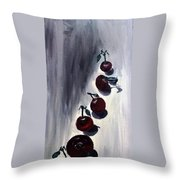 Conversation With Cherries  Throw Pillow