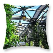Converted Train Stop  Throw Pillow