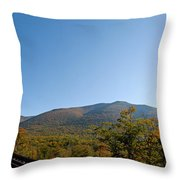 Conway Scenic Railroad - Short Throw Pillow by Geoffrey Bolte