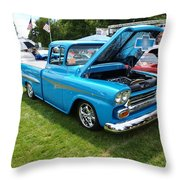 Cool Blues Classic Truck Throw Pillow