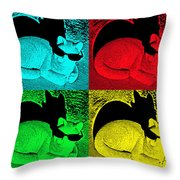 Cool Cat Pop Art Throw Pillow