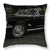 Cool Classic Mustang Throw Pillow