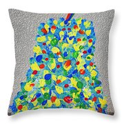 Cool Crazy Pear Abstract Painting Throw Pillow