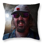 Cool Hat Colour Throw Pillow