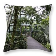 Cool House Inside The National Orchid Garden In Singapore Throw Pillow
