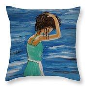 Cool Ocean Breeze Throw Pillow