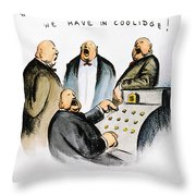 Coolidge: Cash Register Throw Pillow