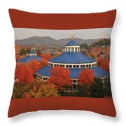 Coolidge Park Carousel Throw Pillow by Tom and Pat Cory