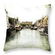Copenhagen Denmark Throw Pillow
