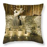 Copernicus - Wieliczka Salt Mine Throw Pillow