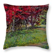 Copper Beeches New Timber Sussex Throw Pillow