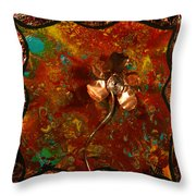 Copper Flower Throw Pillow