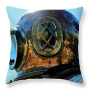 Copper Head Throw Pillow