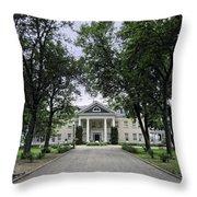 Copper King Daly's Riverside Mansion - Hamilton Montana Throw Pillow