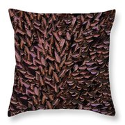 Copper Leaf Throw Pillow