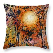 Copper Moon Throw Pillow