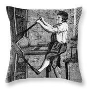 Copper Plate Printer, 1807 Throw Pillow