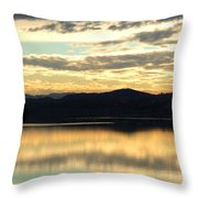 Copper Sky And Reflections Throw Pillow