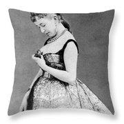 Cora Pearl (c1835-1886) Throw Pillow