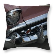 Coral Chevy Halftone Throw Pillow